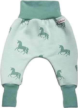 """Lilakind """"Jersey Happy Fleece - Pantalones bombachos para bebé, diseño de caballos"""