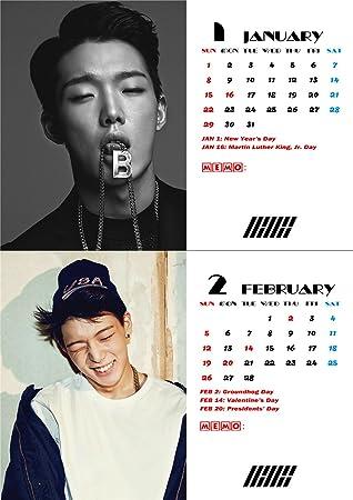 Fanstown IKON Kpop 2019 Collective Edition Desk Calendar with lomo Card#1