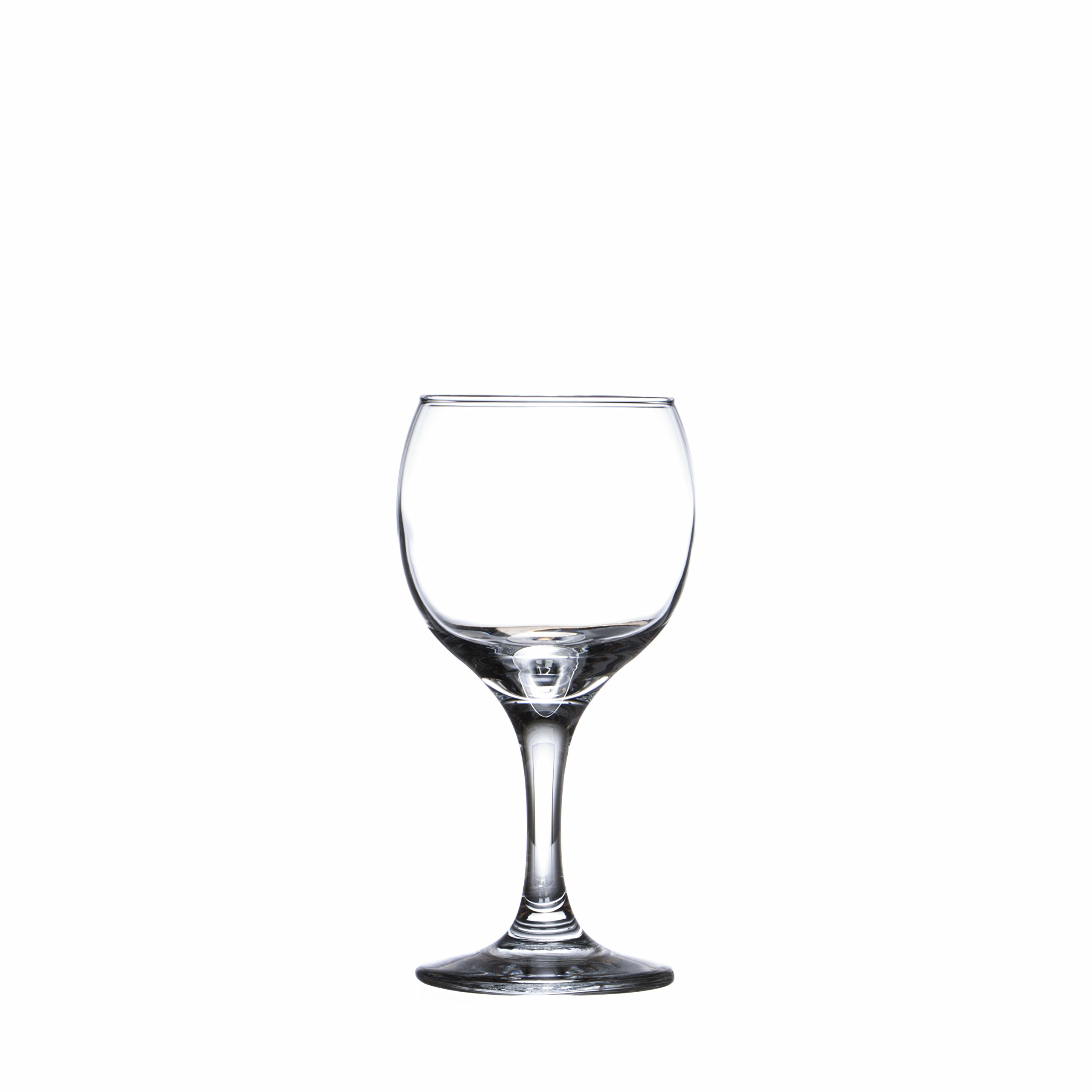 BISTRO 12-piece Wine Glasses Set (in 3 size), White, Red and Liquor Wine, Restaurant&Bar Quality, Durable Tempered Glass, Heavy Base, t.m. Pasabache (7 1/2 oz) by Pasabache (Image #6)