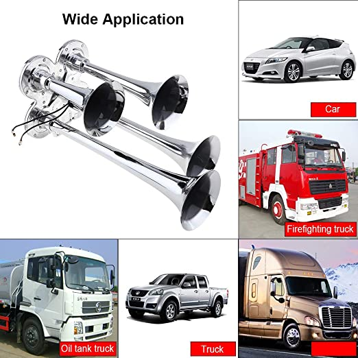 Leeofty Super Loud Single Trumpet Square Semi Truck Air Horn 12V ...