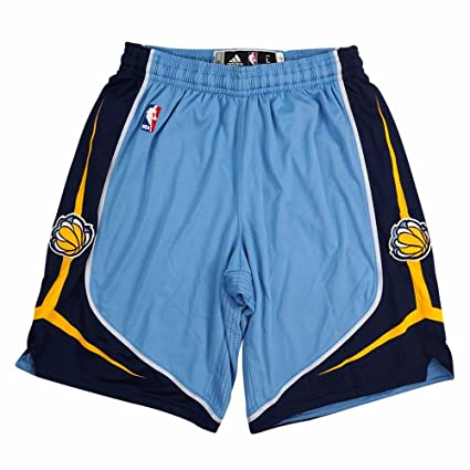 8b8c1785936e3 adidas Memphis Grizzlies NBA Light Blue Authentic On-Court Climacool Team  Game Shorts for Men