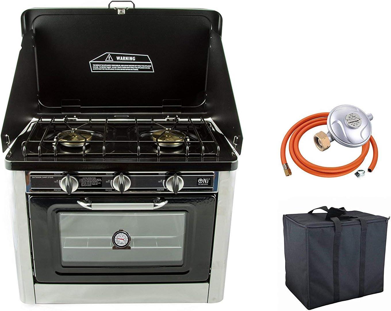 Extérieur Portable GPL gaz Butane Propane à 2 brûleurs 3.8kW four cuisinière de Camping