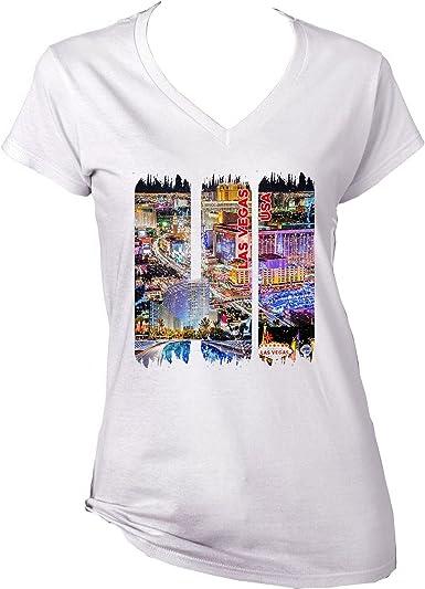 teesquare1st Las Vegas - USA Camiseta para Mujer de Algodon: Amazon.es: Ropa y accesorios
