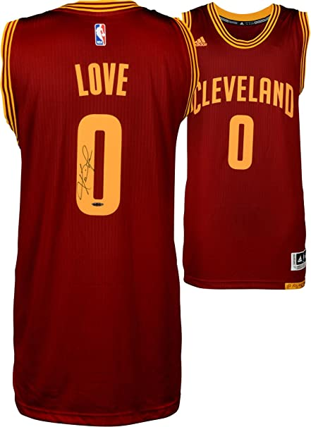the latest b9d0b 0d137 Kevin Love Cleveland Cavaliers Autographed Red Adidas ...