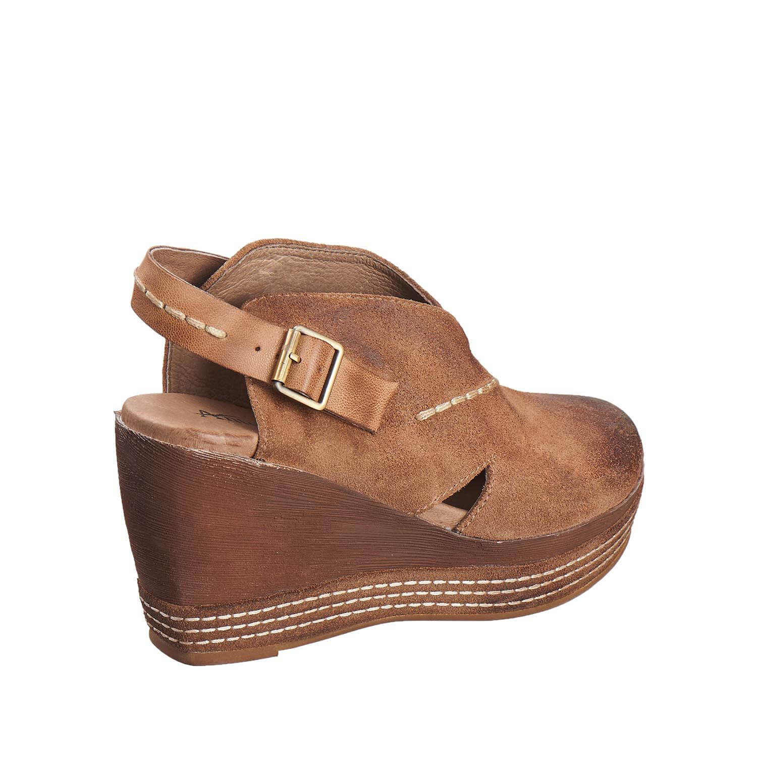 Antelope Women's 836 Taupe Suede Cutout Sling Wedge 38 by Antelope (Image #5)