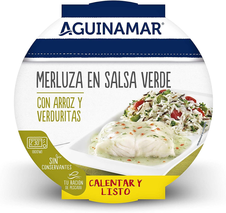 Aguinamar Merluza en salsa verde, con Arroz y Verduritas ...