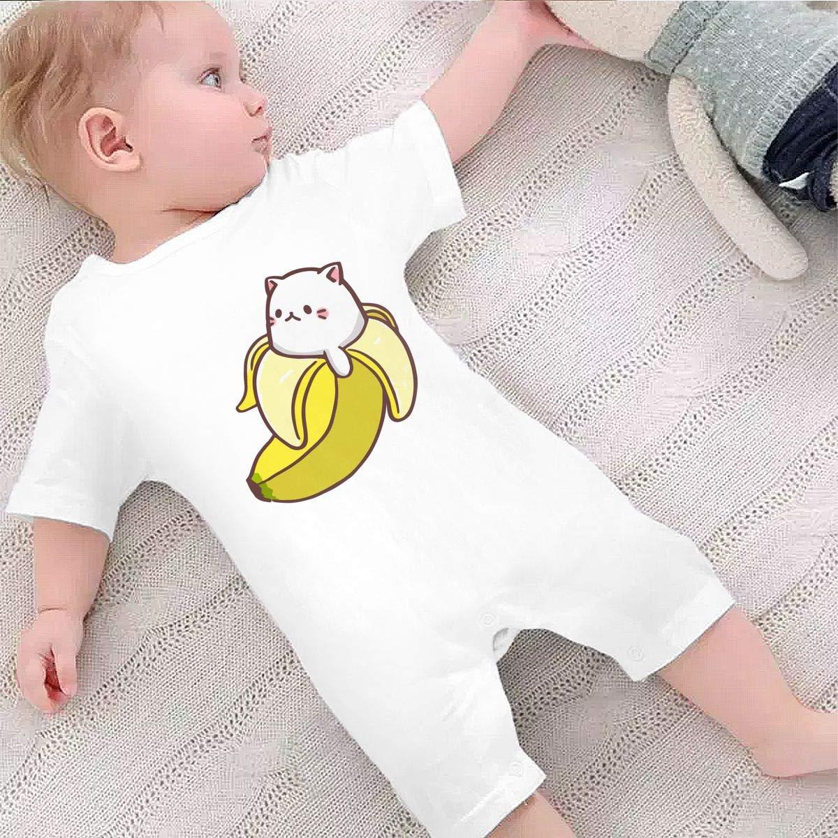 Newborn Infant Baby Girls Boys Bodysuits Bananya Baby Bananya Banana Cat Cotton Short Sleeve Infant Clothing