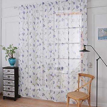 1er HongYa Lila Lavendel Muster Gadine Schlafzimmer Vorhang aus ...