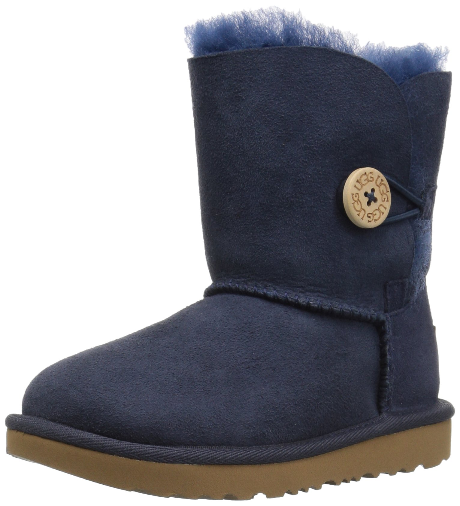 UGG Girls T Bailey Button II Pull-On Boot, Navy, 12 M US Little Kid