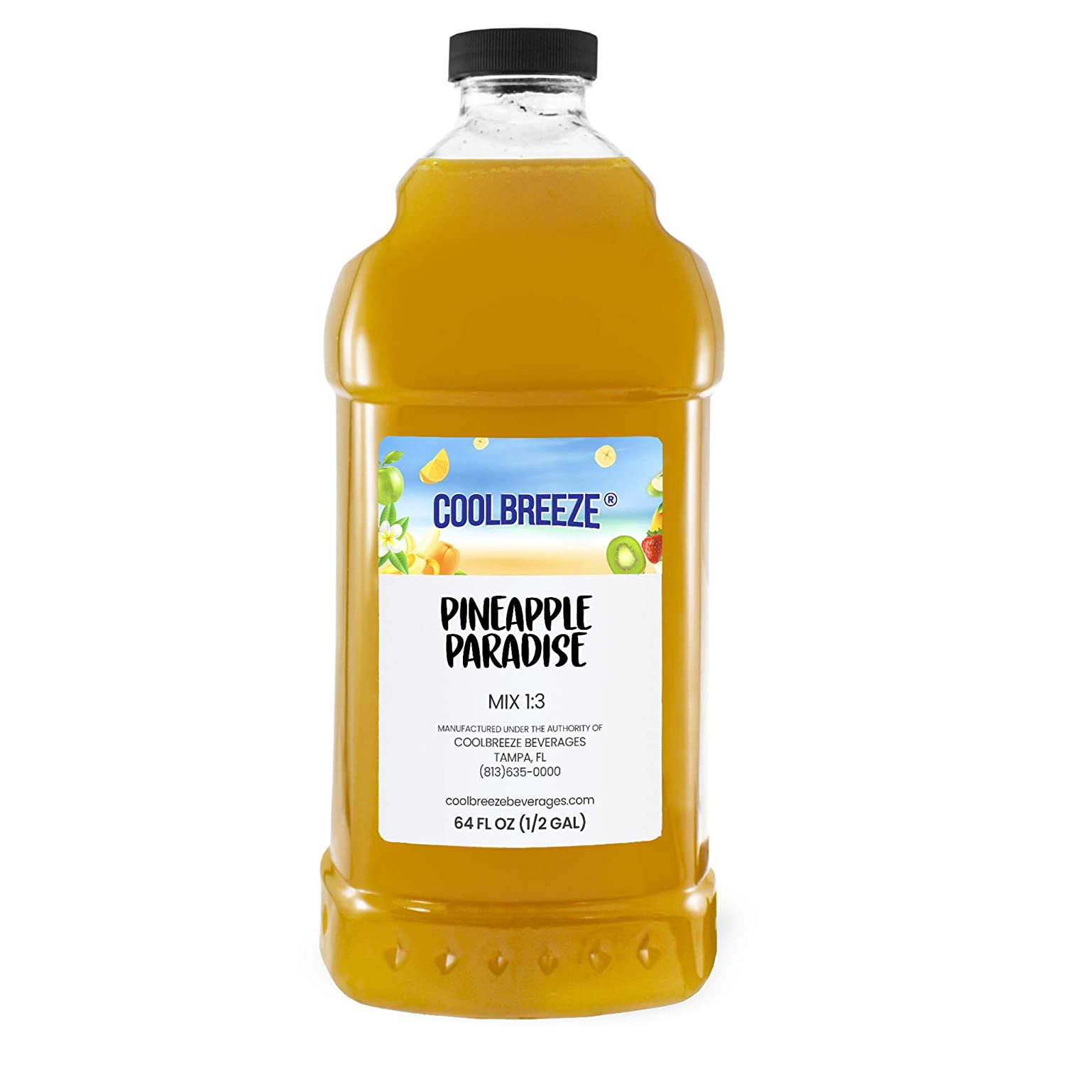 Cool Breeze Beverages Ready To Use Slush Mix, Pineapple, 1/2 gal