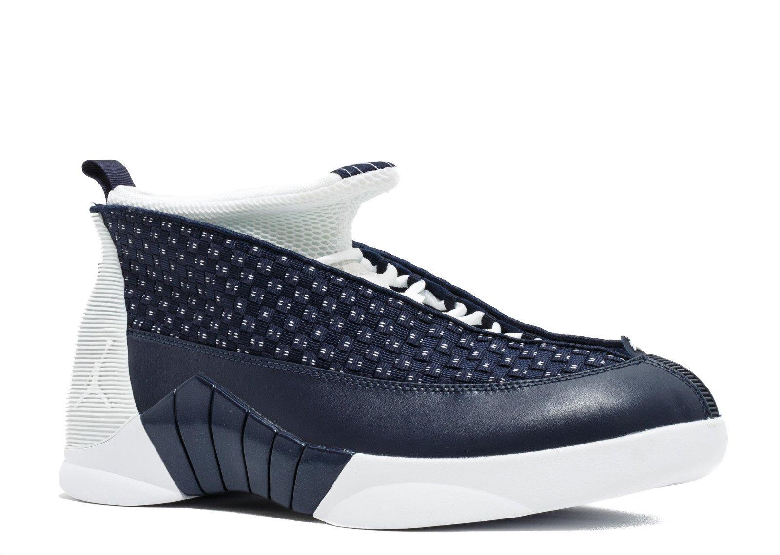 0f82094cf62452 Amazon.com  Nike Air Jordan 15 Retro Mens Obsidian White 881429-400 ...