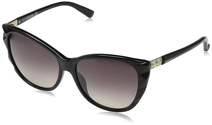 Swarovski Sonnenbrille SK0117 57 01B Gafas de sol, Negro ...