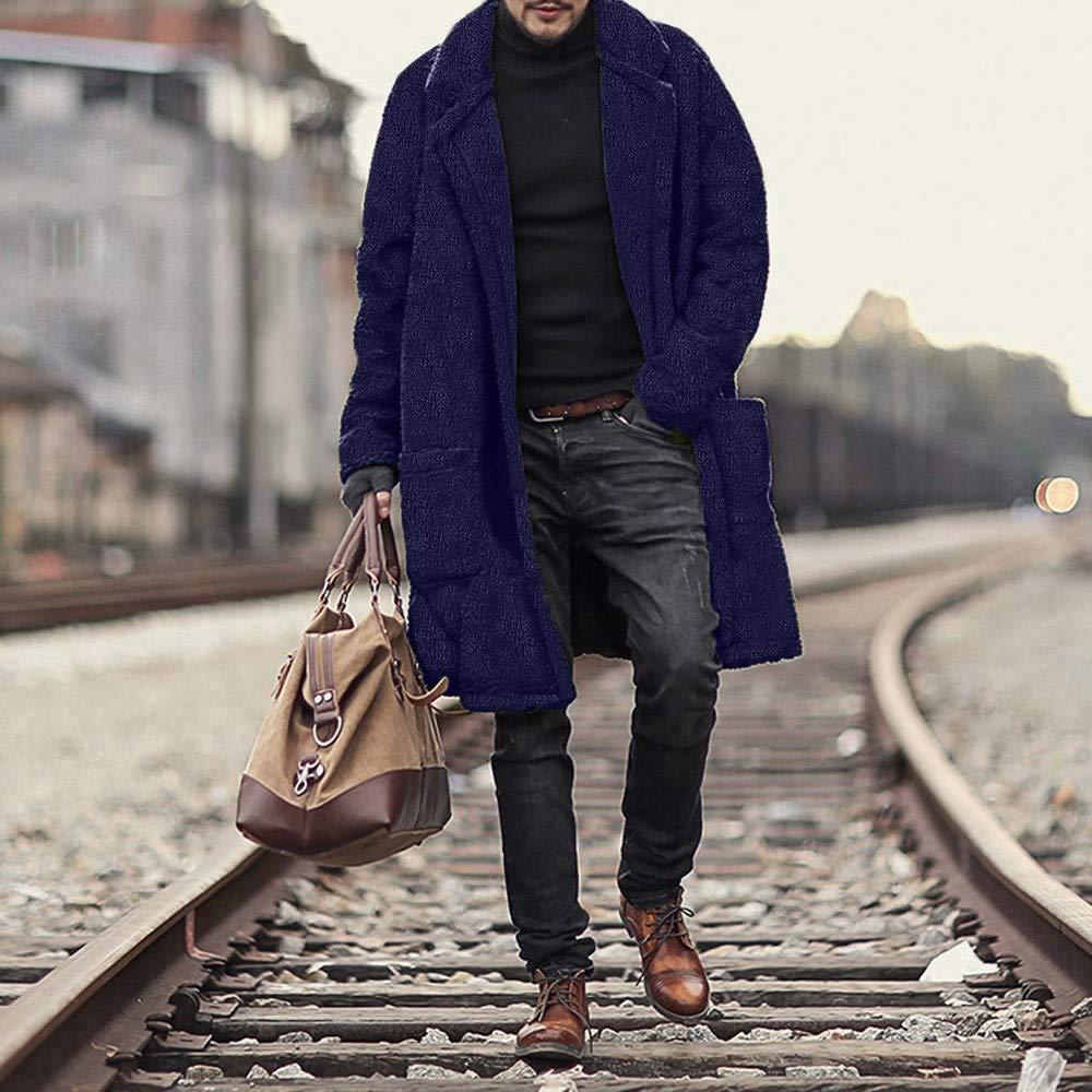 Grande Taille Homme Veste Longue Imitation Peau De Mouton, Overdose Hiver  Soldes Doudoune Parka en Fourrure ... 07444066ce4