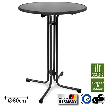 Beautissu Table Haute Pliante Outdoor Ø 80 cm Sylt Bistro ...
