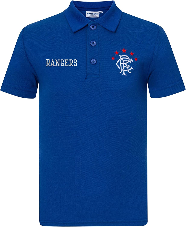 Rangers FC Official Football Gift Boys Crest Polo Shirt