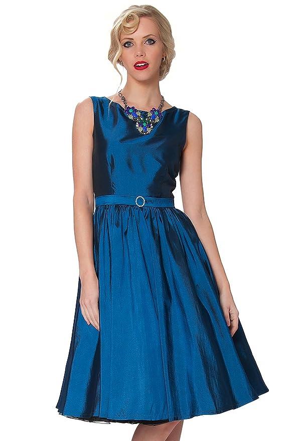 SEXYHER clase ropa Audrey Hepburn Vintage Estilo Clš¢sico Rockabilly vestido del oscilaciš®n 1950 Tarde - RBJ1401: Amazon.es: Ropa y accesorios