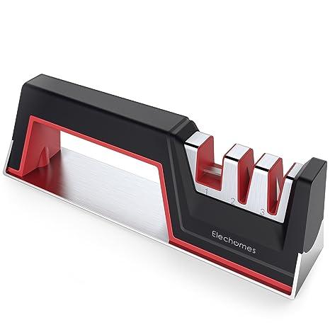 Amazon.com: elechomes afilador de cuchillos, negro, rojo ...