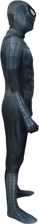 Hois Halloween Superhero Cosplay Black Costume Pretend Play Bodysuit Zentai Fancy Dress