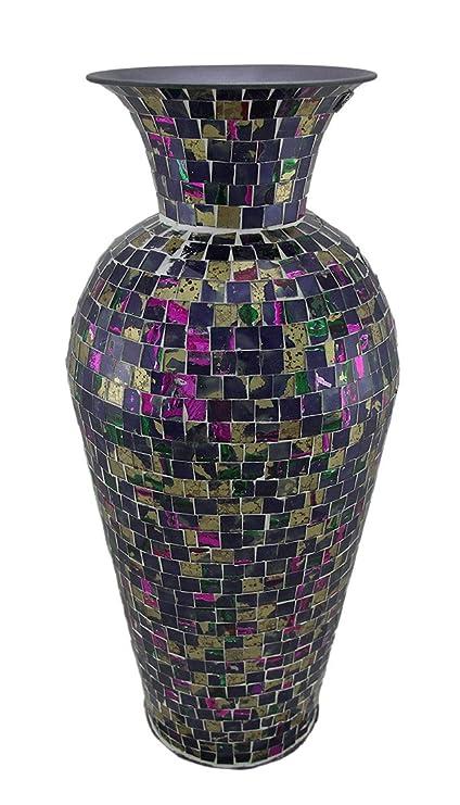 Amazon Stealstreet Ss Edb En80435 1875 Inch Mosaic Vase Home