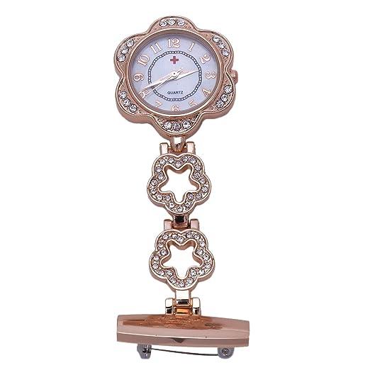 REFURBISHHOUSE Enfermera Reloj Pulso Reloj Fuelle Enfermera Reloj Cuarzo w #1: Amazon.es: Relojes
