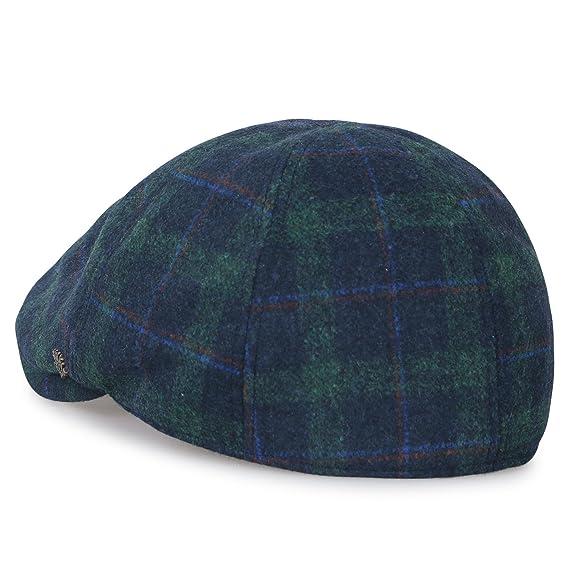 7e6d0b7faa3 ililily Tartan Checkered Wool-Blend Gatsby Newsboy Hat Cabbie Hunting Flat  Cap