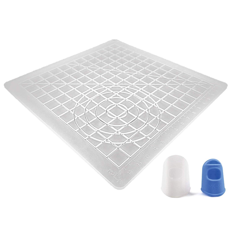 Tappetino in silicone AIO Robotics per il disegno e la progettazione di penne 3D Printing, compresi due cappucci in silicone