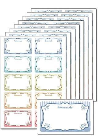 80 Etiketten Homemade Pastell Zum Bedrucken Beschriften Din A5 Selbstklebend Leicht Ablösbar Für Einmachgläser Gebäcktüten Geschenke