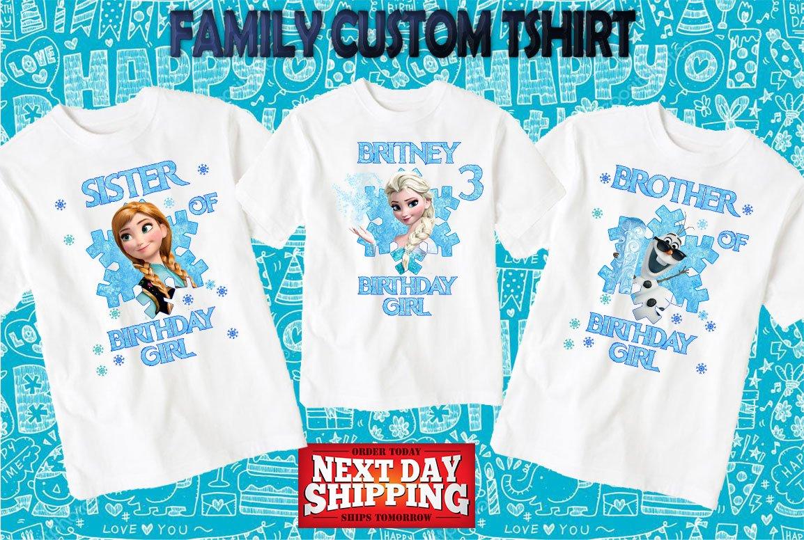 Amazon Frozen Birthday Shirtcustom Shirtpersonalized Frozen