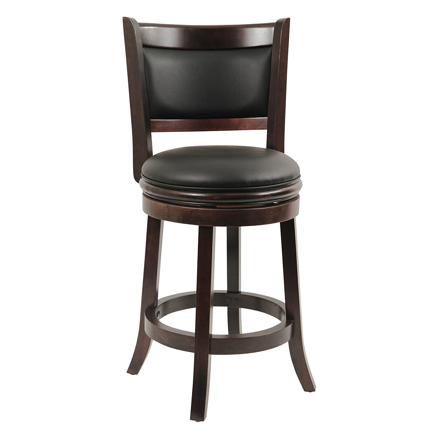 Amazon.com Boraam 48824 Augusta Counter Height Swivel Stool 24-Inch Cappuccino Kitchen u0026 Dining  sc 1 st  Amazon.com : counter height swivel stools - islam-shia.org