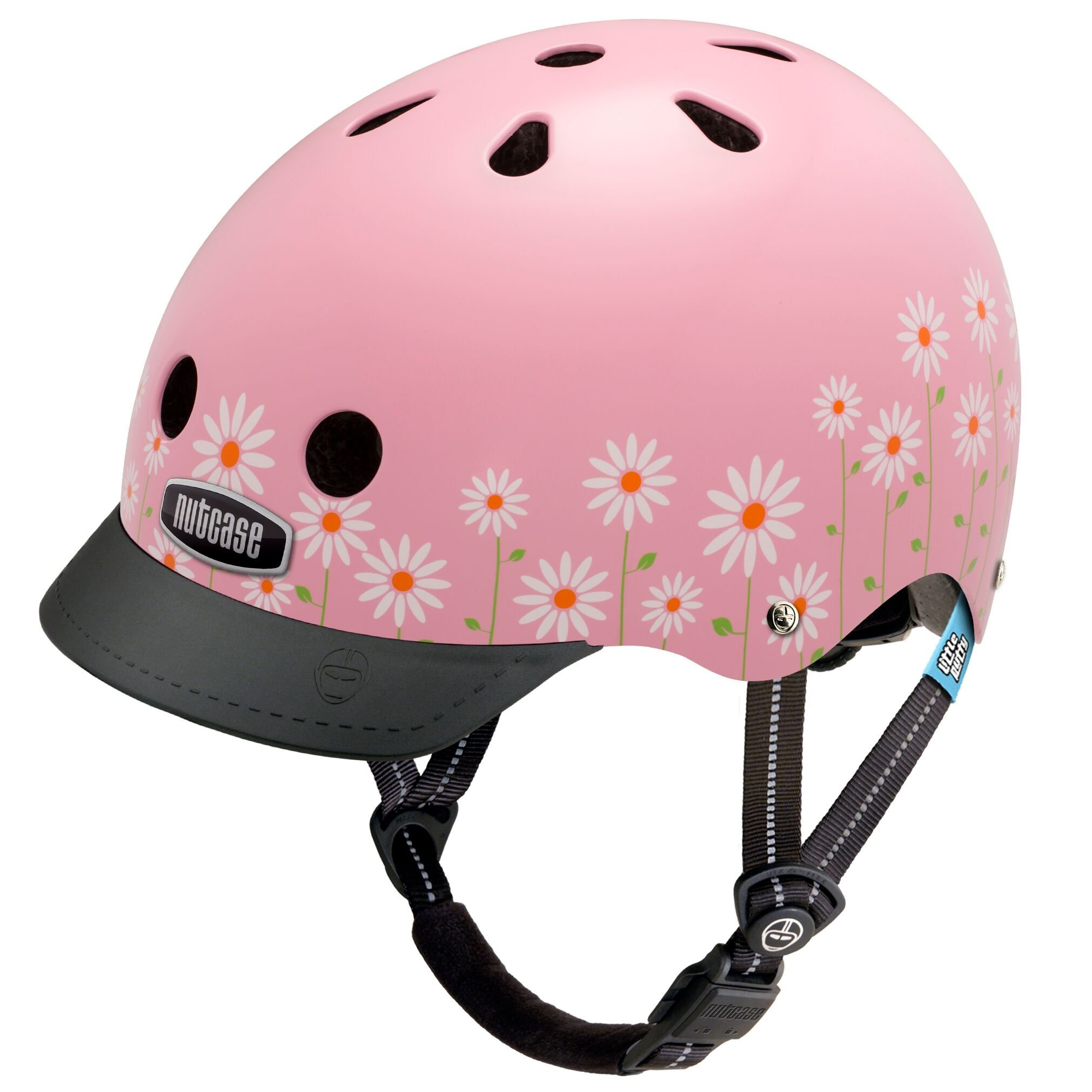 Nutcase - Little Nutty Street Bike Helmet, Fits Your Head, Suits Your Soul - Daisy Pink