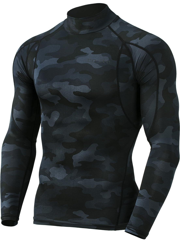 (テスラ)TESLA オールシーズン 長袖 ラウンドネック スポーツシャツ [UVカット吸汗速乾] コンプレッションウェア パワーストレッチ アンダーウェア R11 / MUD01 / MUD11 B07F71RHBL Medium|Z457-TM-MUT12-MBK Z457-TM-MUT12-MBK Medium