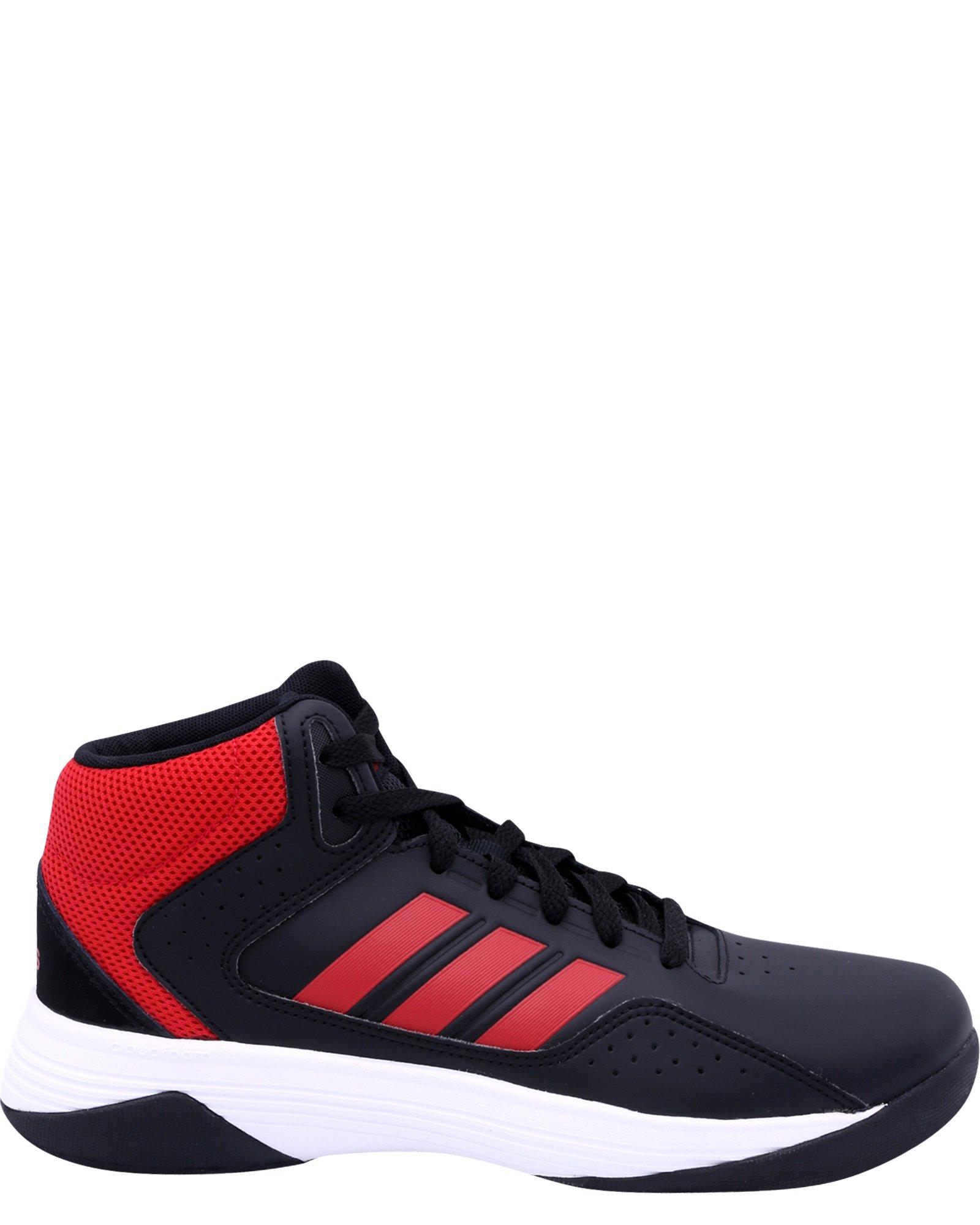 adidas NEO Boys' CF Ilation Mid K Basketball-Shoes, Black/Scarlet/White, 4 Medium US Little Kid
