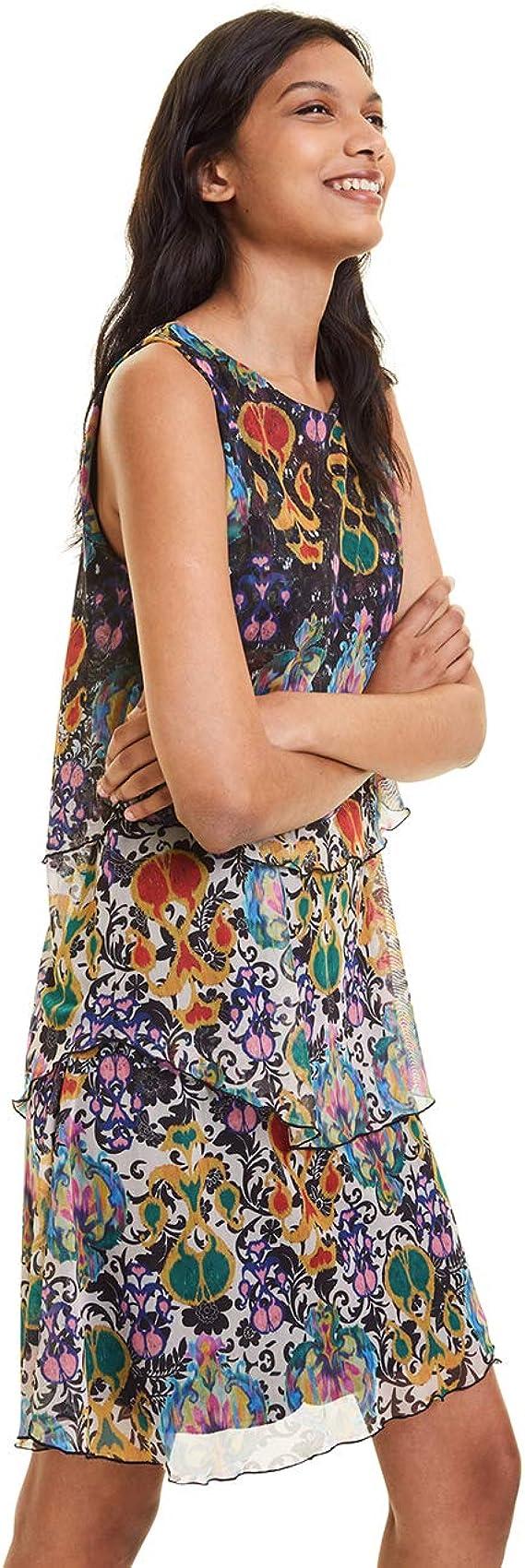 Desigual Three-ply Dress Vestido para Mujer