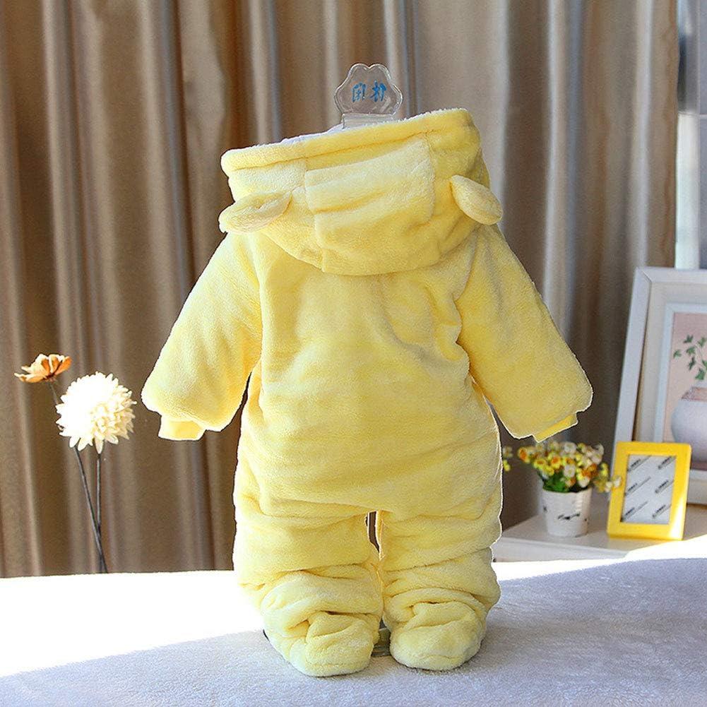 Fairy Baby Baby Schneeanzug Neugeborene S/äugling Baby Kapuzen Strampler Fleece Schneeanzug Cartoon Jumpsuit Herbst Winter Outfits 0-12M