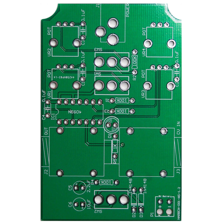 4093 Chaos NAND Handheld PCB - Drone Synth Synthrotek