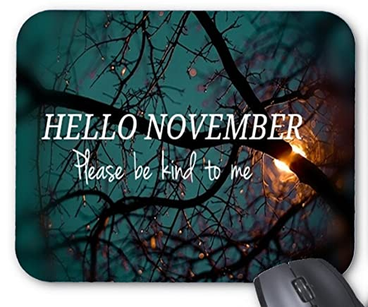 Hello December Design Pink Mouse Pad 7x8.66 Inch: Amazon.co.uk: Electronics
