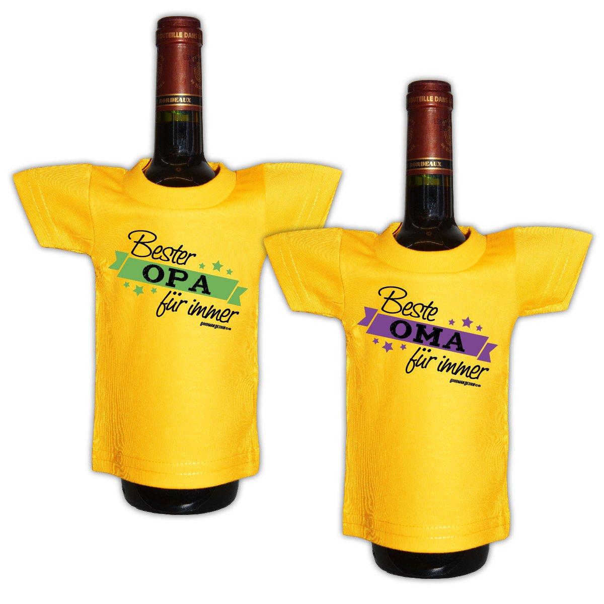 Lustiges Geschenk für Großeltern Mini T-Shirt für Flaschen ...