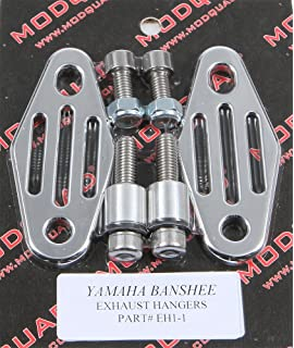 Modquad Toomey Pipes Rear Hangers Straight Lines Polished Yamaha YFZ350 Banshee