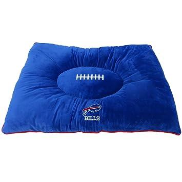 PETS FIRST NFL Mascota Cama – Buffalo Bills Suave y Acogedor Peluche. Cuddle, Cama