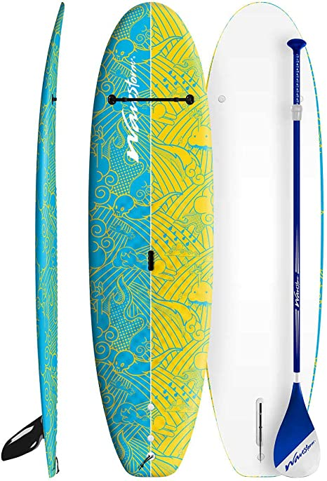 Wavestorm Junior 8ft Stand Up PaddleBoard Adjustable Youth Sized Paddle