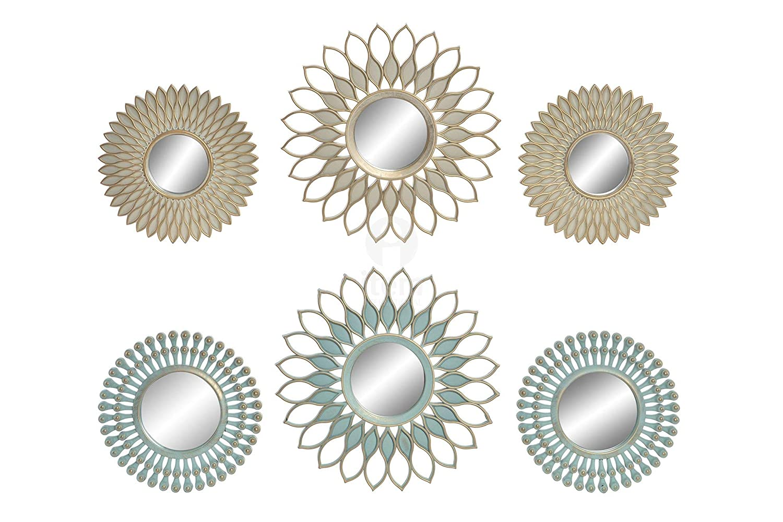 Espejo de Pared Circular en Set de 3, para su hogar, Dos modelos a Elegir. Original/Chic 35X35 cm.-Hogarymas- - A Hogar y Mas