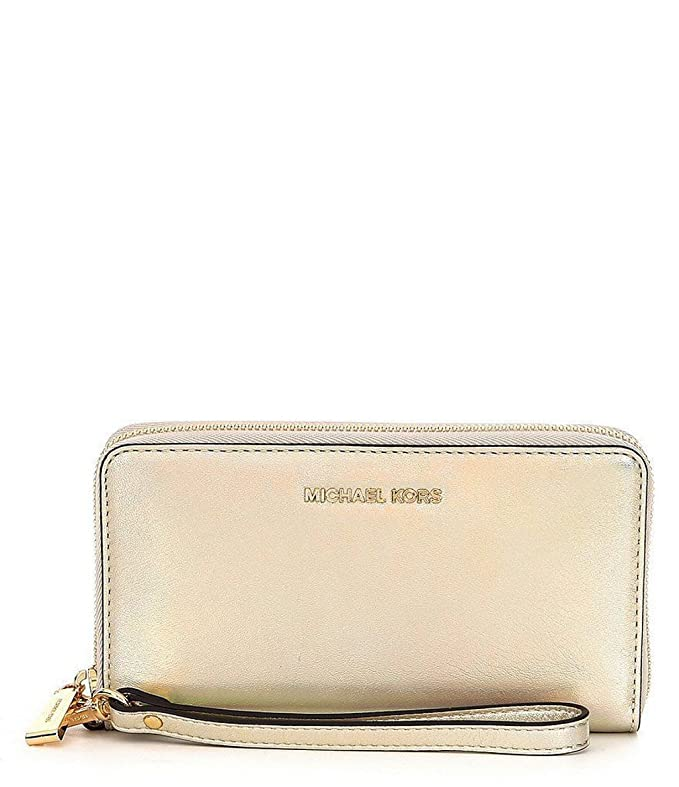Michael Kors Large Flat Pale Gold Leather Multifunction