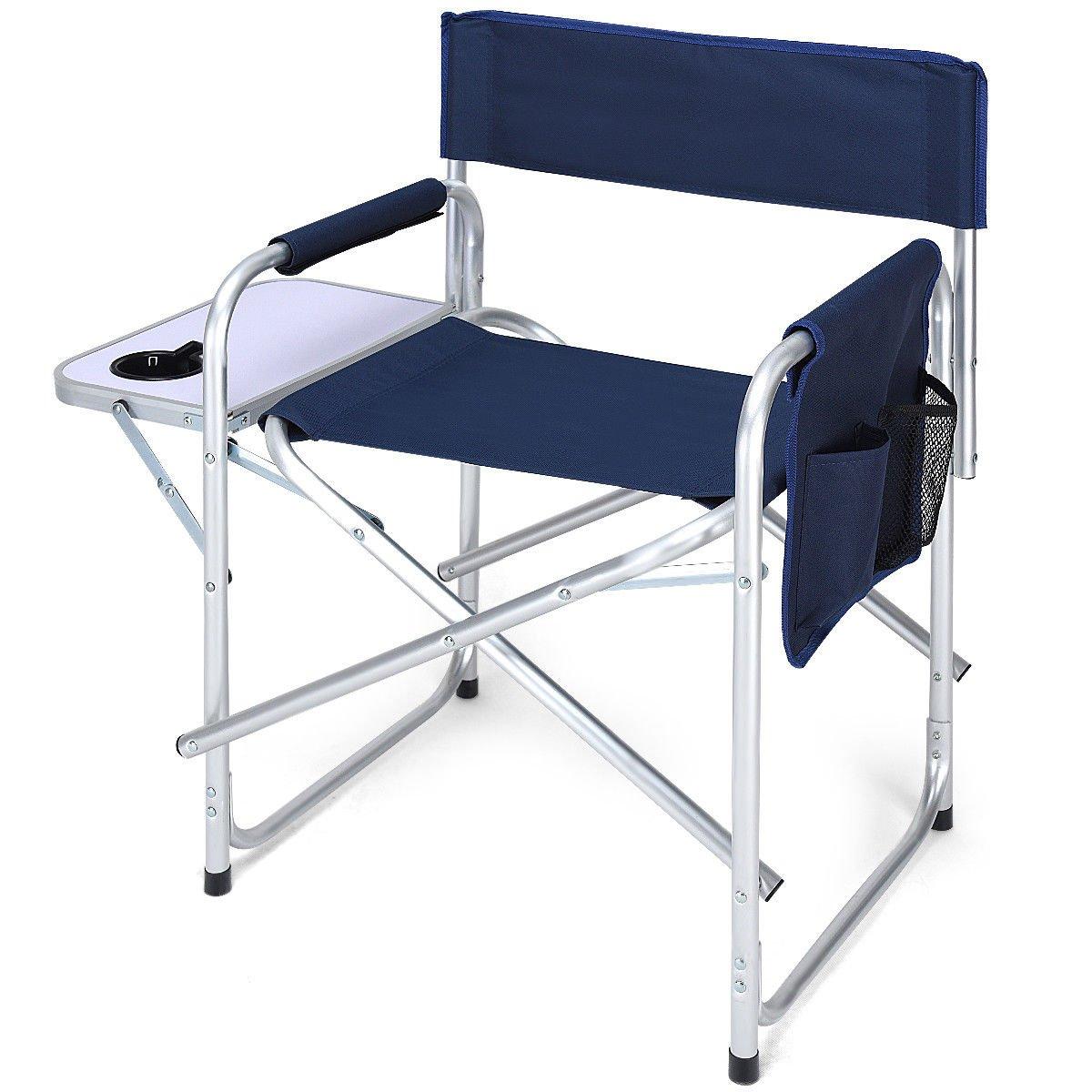 早い者勝ち Director's Chair サイドテーブル アウトドア 折りたたみ式 Chair キャンプ 釣り B07DCS6FX7 カップホルダー付き 折りたたみ式 ネイビー B07DCS6FX7, 藤イチ:141cda44 --- arianechie.dominiotemporario.com