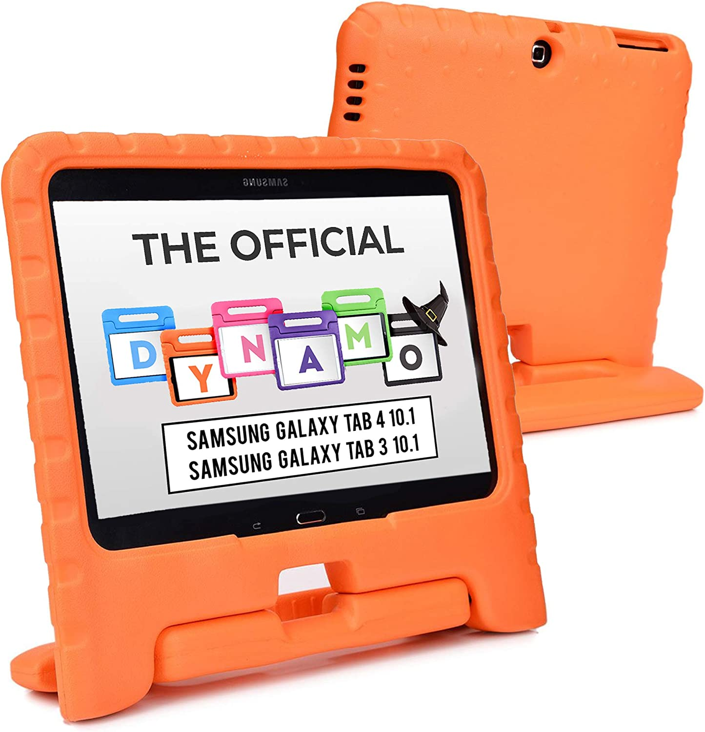 Cooper Dynamo [Rugged Kids Case] Protective Case for Samsung Tab 4 10.1, Tab 3 10.1 | Child Proof Cover, Stand, Handle | SM-T530 T531 T535 (Orange)