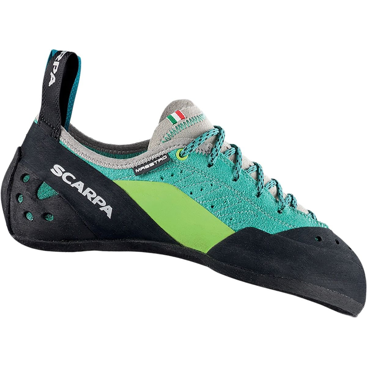 SCARPA Maestro Climbing Shoe - Women's Green Blue, 35.5 by SCARPA