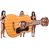 Coconut Float Pool Floats; Acoustic Guitar Pool Raft...