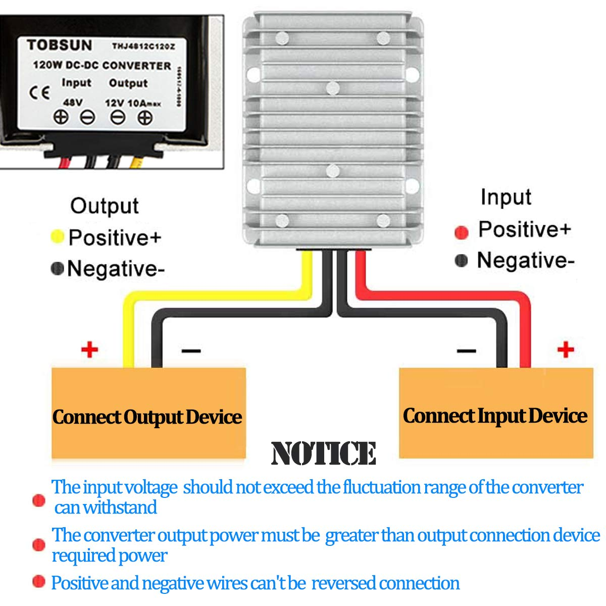 Golf CART Voltage Reducer Converter 48V to 12V 10A 120W Mad Jax Inverter Wiring Diagram on