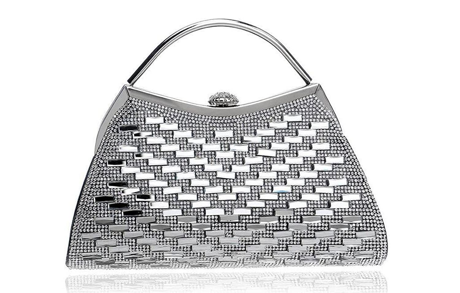 GINSIO Women's Rhinestone Pearl New Fashion Simple Shoulder-handbags Evening-handbags