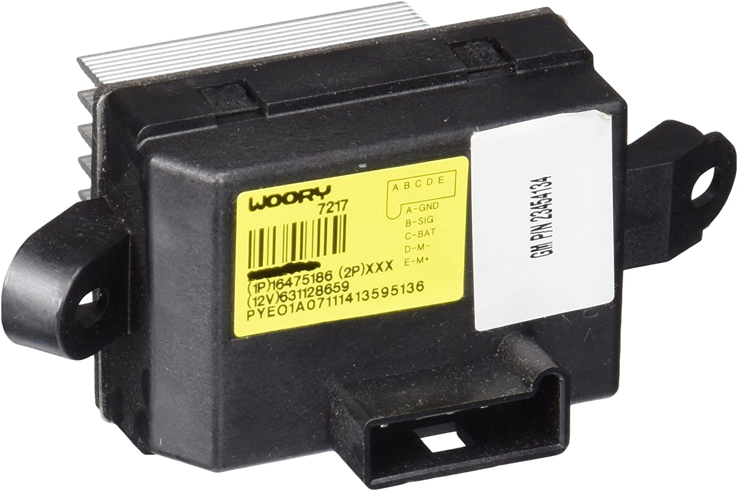 ACDelco 15-80878 GM Original Equipment Auxiliary Heating and Air Conditioning Blower Motor Resistor