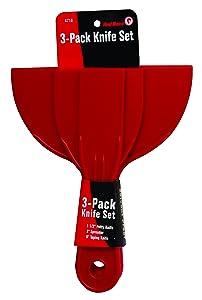 Red Devil 4718 3-Piece Plastic Knife Set